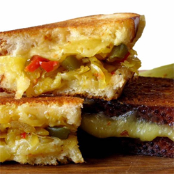 Red River Relish Chow Chow Grilled Cheese