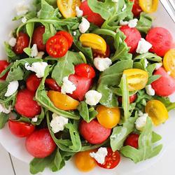 Watermelon-Tomato-Feta Salad