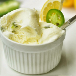 Meyer Lemon Ice Cream with Sweet and Heats